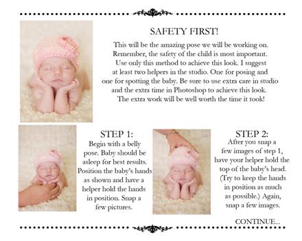 The newborn posing guide includes