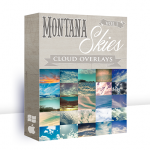 SECOND CHANCE!! Montana Skies Cloud Overlays + BONUS Sun Flare Mini-Set {Save 69%}