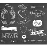 """$12 for """"Wings of Love"""" Chalkboard Overlays + BONUS Frames/Design Elements Set {Save 69%}"""