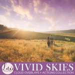 "Luxe ""Vivid Skies"" Cloud Overlays +  FREE BONUS Actions Set {Save 68%}"