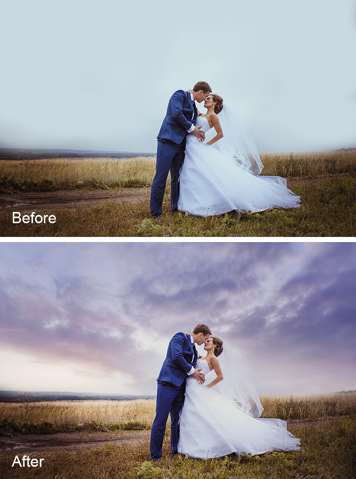 how to fix blown out sky in photoshop elements