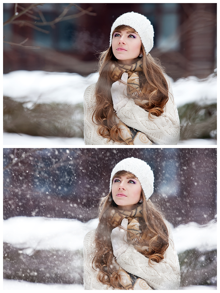 Adding Snow in Photoshop