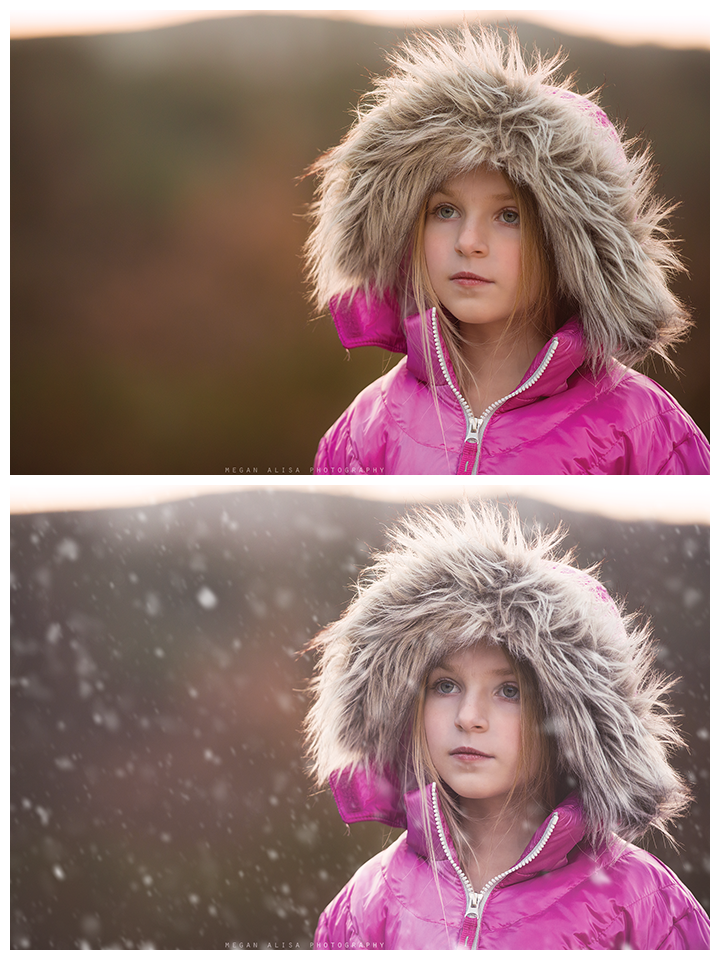 Adding Snow in Photoshop Using Pretty Actions