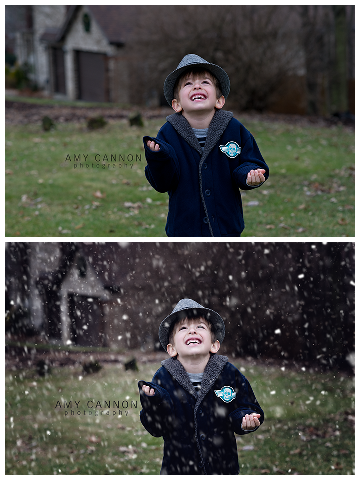 Adding Snow Overlays in Photoshop